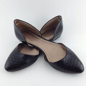 Jessica Simpson snake print black flats size 8.5